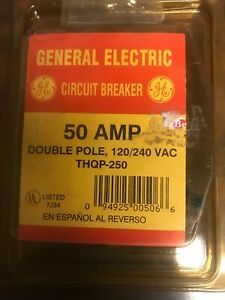 General Electric Thqp 250 50 Amp Double Pole Circuit Breaker New
