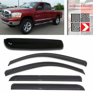 Mad 5pcs Window Sunroof Visor For 2010 18 Dodge Ram 2500 3500 Crew Cab Mega Cab