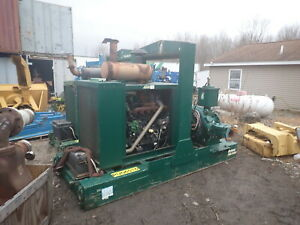 Gorman Rupp Pa6e60 10x6 Water Pump 2 Avail High Head John Deere Diesel Trash