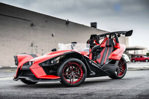 3 Polaris Slingshot 20 22 Staggered Marquee Wheels 3259 Black Red b1