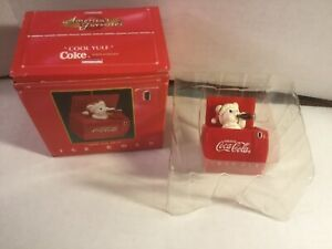 """1993 COCA-COLA ENESCO CHRISTMAS POP-UP ORNAMENT """"NOW YOU SEE IT"""""""