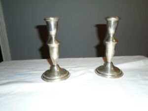 Antique Empire 620 Sterling Silver Candle Holder Stick Weighted 6 25 Tall