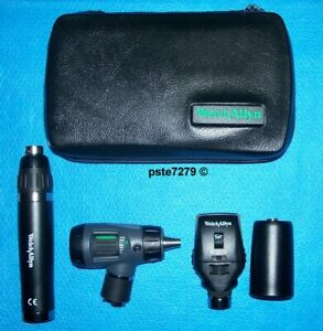 Welch Allyn 97200 ms Lithium Ion smart Otoscope Ophthalmoscope Diagnostic Set