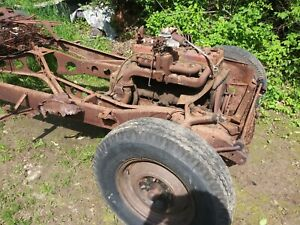 1941 Dodge 4 Door Frame With 6 Cylinder And Bellhousing