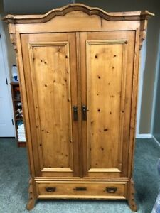 Czechoslovakia Two Door Pine Wardrobe 1880s