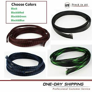 Cord Protected Wire Loom Braided Cable Sleeves Expandable Nylon Sleeving Lot
