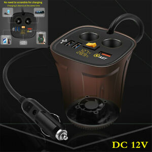 Universal Multi socket Car Cigarette Lighter Power Adapter Dc Outlet Splitter