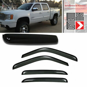 Mad 5pc Window Sunroof Visor Guard For 07 13 Chevy Avalanche Suburban 1500 2500