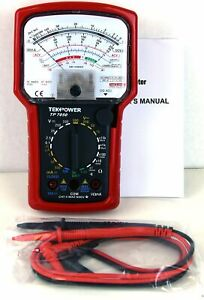 High Accuracy Analog Multimeter Battery Capacity Tester Ac Dc Volt Amp Ohm Meter