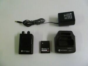 Motorola Minitor V 151 158 9 Mhz Vhf 2 Ch Stored Voice Fire Ems Pager W Charger