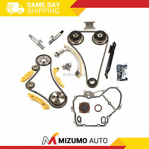 Timing Chain Kit Vct Selenoid Actuator Gear Cover Gasket Fit Gm Ecotec 2 2l 2 4l