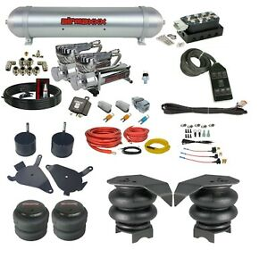 Complete Air Ride Suspension Kit 1982 2005 S10 Accuair Vu4 Avs Switchbox Square