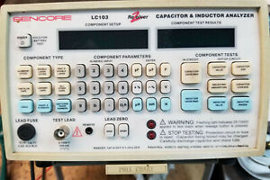 Sencore Lc 103 Capacitor Inductor Analyzer