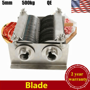 Meat Cutting Machine Cutter Slicer One Set Blade For Qe Model 500kg Stainless