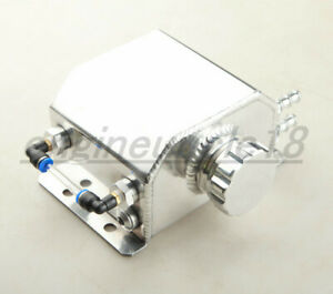 1l Aluminum Radiator Coolant Overflow Bottle Recovery Water Tank Reservoir Sil