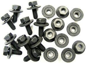 Toyota Body Bolts Barbed Nuts M6 1 0 X 16mm Long 10mm Hex 20 Pcs 376