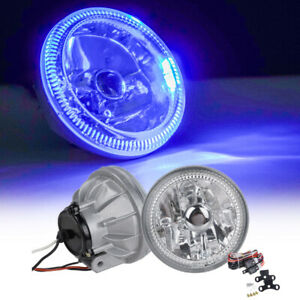Universal 4 Round Chrome Housing Led Blu Ray Fog Light Lamps With Switch