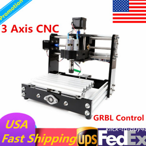 3 Axis Cnc Router Desktop Pcb Wood Carving Miglling Engraving Machine Usb