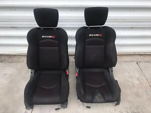 2013 Nissan 370z Nismo Left Right Seat Set Cloth Manual Oem Seats
