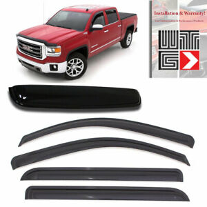 Mad 5pcs Window Sunroof Visor For 14 18 Chevrolet Silverado 1500 Extended Cab