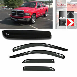 Mad 5pcs Window Sunroof Visor Guard For 02 08 Dodge Ram 1500 Quad Crew Cab