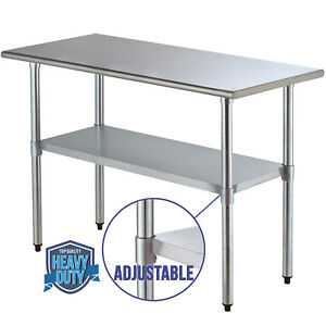 24 x 48 Work Table Food Prep Commercial Stainless Steel Kitchen Restaurant