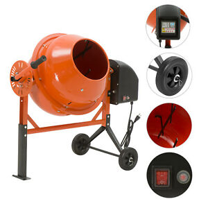 2 1 5cuft Electric Concrete Cement Mixer Barrow Machine Mixing Mortar Portable