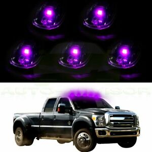 5pcs Cab Roof Marker Clearance Light Smoke W 3528 12v Led For 03 16 Dodge Ram