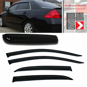 Mad 5pcs Window Sunroof Visor Guard For 2003 2007 Honda Accord Sedan 4 Door