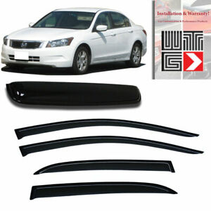 Mad 5pc Window Sunroof Visor Guard For 2008 2012 Honda Accord Sedan 4 Door