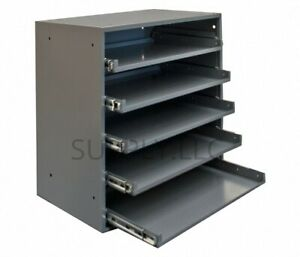 Steel Bin Shelving 5 Drawers Compartments Part Fittings Nut Bolt Storage Garage