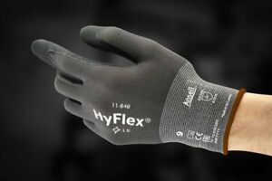 Lot Of 2 Ansell 11 840 Hyflex Coated Gloves Nitrile Size 8 Gloves 5 Ansi isea
