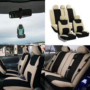 Car Seat Covers Light Breezy Flat Cloth Seat Covers Full Set W Air Freshener