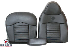 2000 Ford F 150 Harley Davidson Driver Side Complete Leather Seat Covers Black