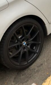 20 Bmw Black Coated Staggered Rims With Tires
