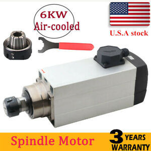 Cnc Router 6000w Er32 Spindle Motor Air Cooled 18000rpm Stainless Steel