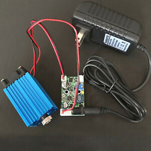 Focusable 450nm 2w 2000mw Blue Laser Module Line Beam W 12v Power Adapter