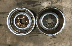Ford 15x6 Reversed Wheels Old Chrome Hot Rod 5 X 5 5 1932 Model A Scta 1940