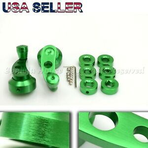 For Old Vw Aluminum Custom Look Usa Anodized Green Window Cranks Winders Diy