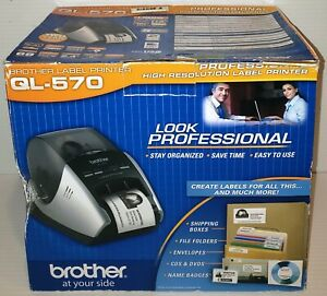 new In Opened Box Brother Ql 570 Professional Label Thermal Printer