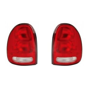 Fits 1996 2000 Chrysler Town Country Pair Rear Tail Lights Driver And Rh