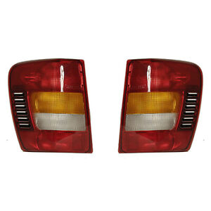 Fits 2002 2004 Jeep Grand Cherokee Pair Rear Tail Lights Driver And Rh