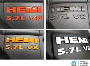 2009 2018 Ram Hemi 5 7l V8 Engine Cover Overlay Decal Stickers