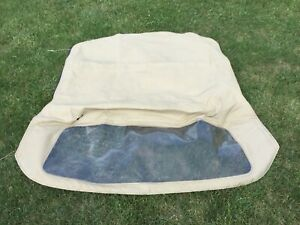 Fiat 124 Spider Convertible Top White For Parts