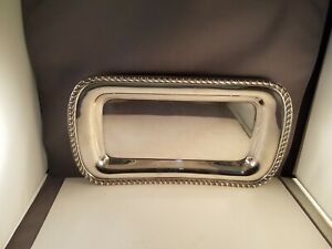 Vintage Poole Silver Plated Heavy 13 Bread Tray 1057 Epca