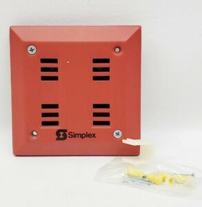 New Simplex 2901 9840 Red Flush Mount Fire Alarm Horn