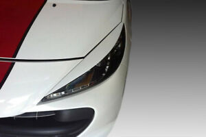 For Peugeot 207 Eyebrows Headlight Cover Abs Plastic