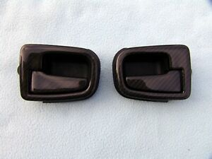Bmw E36 M3 Coupe Real Carbon Inside Door Handles With Frames New Laminated
