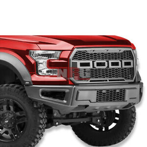 For 2015 2017 Ford F 150 F150 Svt Raptor Look High Quality Steel Front Bumper