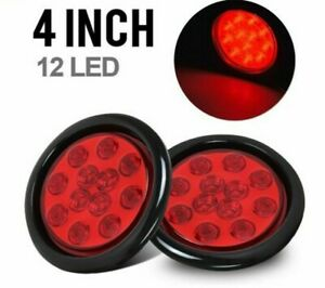 Led Tail Light Tractor Trucks Lighting Parts Round Back Up Off Roads Lights 2pcs